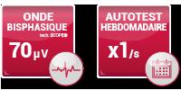 DEFME - Nos packs : défibrillateur HeartSine / caractéristiques : onde bisphasique et autotest